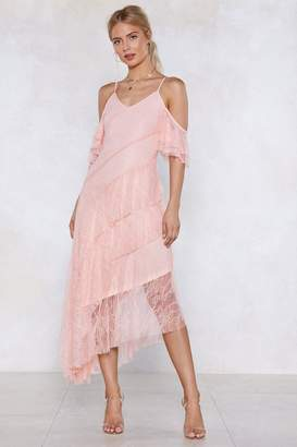 Nasty Gal Let the Tiers Fall Lace Dress