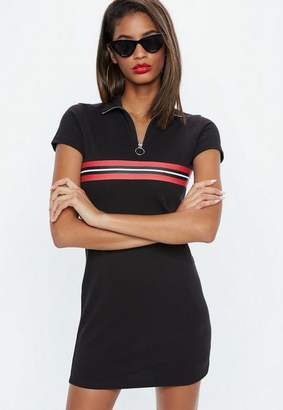 Missguided Black Polo Shirt Dress