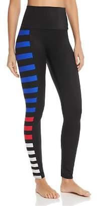 K-Deer Color-Block Side-Stripe Ankle Leggings - 100% Exclusive