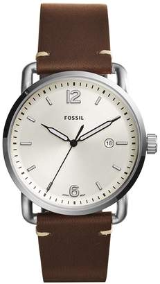 Fossil Men's FS5275 The Commuter Three-Hand Date Leather Watch