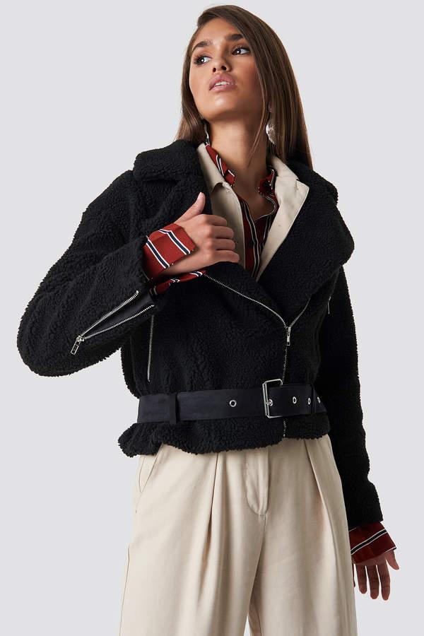 Hannalicious X Teddy Biker Jacket Black