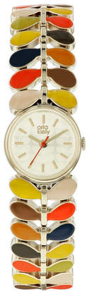 Lola Rose Orla Kiely Watch, Multi Color Bracelet, Double Jewelry Clasp