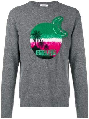 Valentino Palm long sleeve sweater