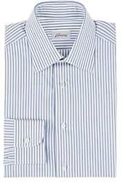 Brioni Men's Striped Cotton Dress Shirt - Lt. Blue