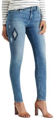 Chaps Petite Flocked Skinny Jeans