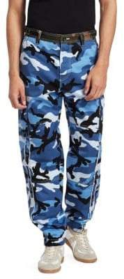 Valentino Camo Button-Fly Cargo Pants