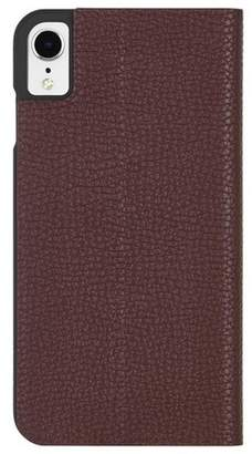 Barely There Case-Mate iPhone XR Folio Brown Case