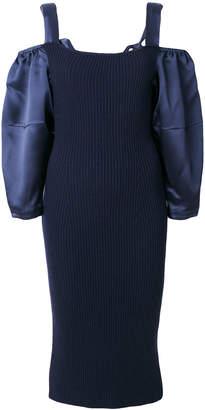 Alberta Ferretti cold shoulder dress