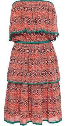 36b8065850 Talitha Off-the-shoulder Printed Silk Crepe De Chine Mini Dress