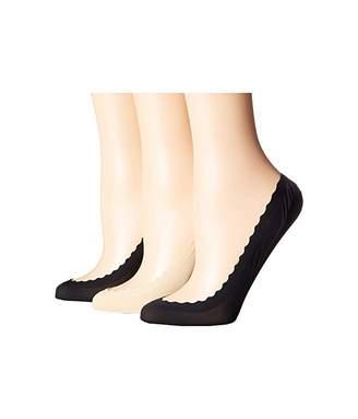 Kate Spade Scallop Second Skin 3-Pack Liner Socks
