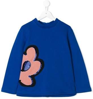 Marni sequin embroidered flower sweatshirt
