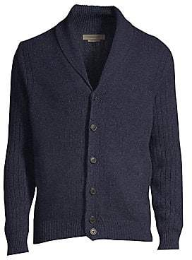 Corneliani Men's Melange Wool Shawl Cardigan