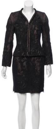 Christian Lacroix Lace Mini Skirt Suit