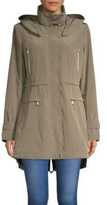 Gallery Faux-Fur Lined Hooded Anorak