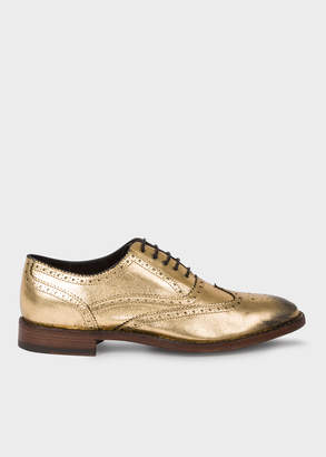 Paul Smith Women's Gold Leather 'Munro' Flexible Travel Brogues