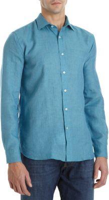 Etro Loose Weave Linen Shirt