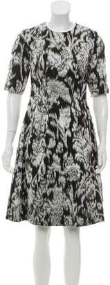 Lela Rose Metallic Brocade Dress w/ Tags