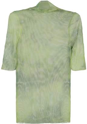 Collina Strada sheer tie dye T-shirt