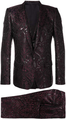 Dolce & Gabbana jacquard three piece suit
