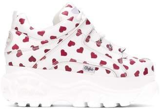 Buffalo David Bitton heart print platform sneakers