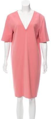 Calvin Klein Collection V-Neck Knee-Length Dress