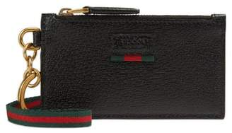 Gucci Lanyard Strap Zip Leather Pouch