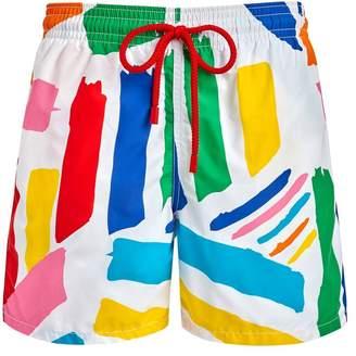Vilebrequin x jean charles de castelbajac colorful swim shorts