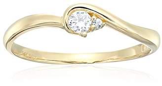 14k Cubic Zirconia Round Brilliant Cut Solitaire Promise Engagement Ring