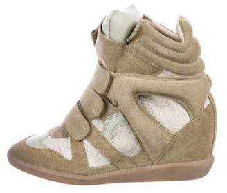 Isabel Marant Over Basket Wedge Sneakers w/ Tags