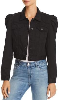 Blank NYC BLANKNYC Puff-Sleeve Cropped Denim Jacket - 100% Exclusive