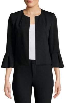 Calvin Klein Bell-Sleeve Ruffled Cardigan