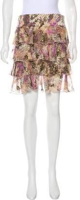 Diane von Furstenberg Sequined Ruffle Skirt