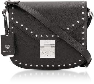 MCM Black Studded Outline Small Patricia Shoulder Bag