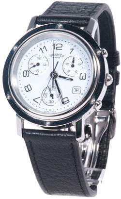 Hermes Clipper Chronographe Black Metal Watches