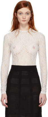 Givenchy White Lace Bodysuit
