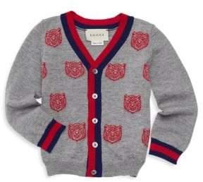 Gucci Baby Boy's Tiger Striped Wool Cardigan