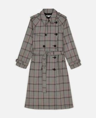 Stella McCartney Check Trench Coat, Women's