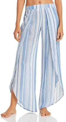 Ralph Lauren Yarn Dyed Stripe Wrap Swim Cover-Up Pants