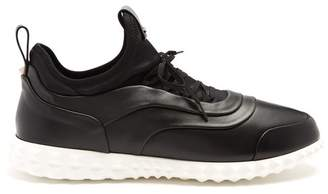 Valentino - Low Top Leather And Neoprene Trainers - Mens - Black Multi