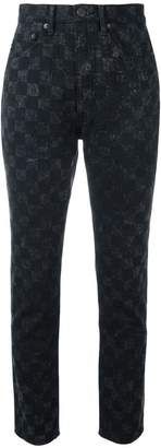 Marc Jacobs checker print Flood Stovepipe jeans