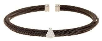 Alor 18k White Gold Embellished Stainless Steel Bracelet