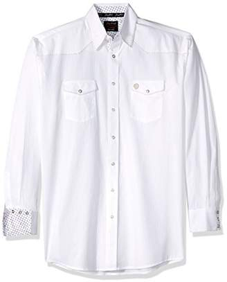 Wrangler Men's Tall Size George Strait Troubadour Snap Front Long Sleeve Shirt
