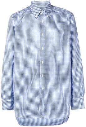 Bagutta button down check shirt