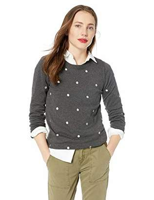 J.Crew Mercantile Women's Polka Dot Crewneck Sweater