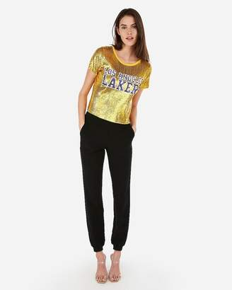 Express Los Angeles Lakers Nba Sequin Tee