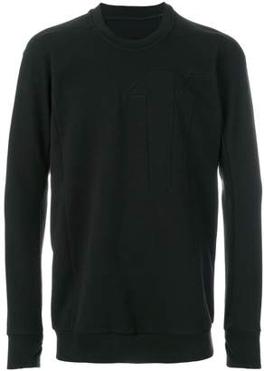 11 By Boris Bidjan Saberi crew neck block cut sweatshirt