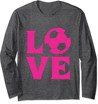 I love soccer long sleeve shirt for women