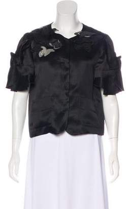 Dolce & Gabbana Button-Up Silk Jacket