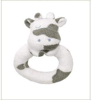 Angel Dear Ring Rattle Cow by