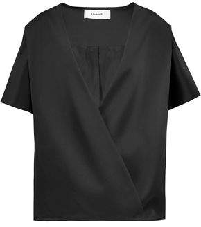 Chalayan Wrap-Effect Satin Jacket